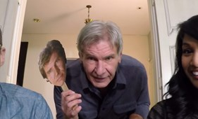 Harrison Ford a Skype-on lepte meg a Star Wars-rajongókat